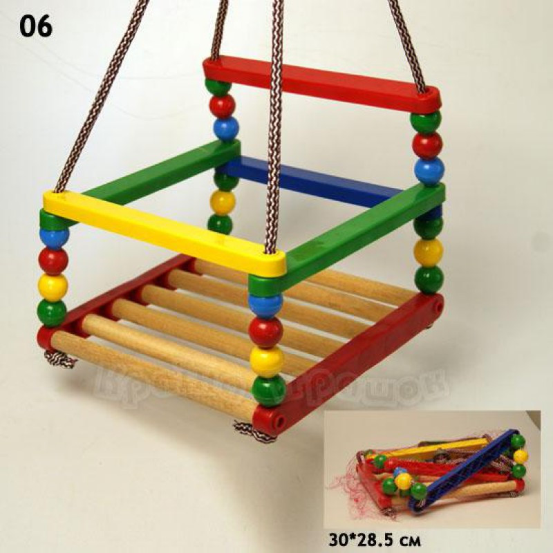 деревянная качеля для детей