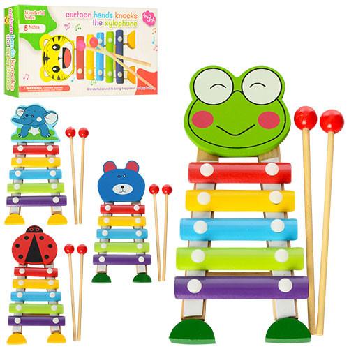 Деревянная игрушка Ксилофон с животными