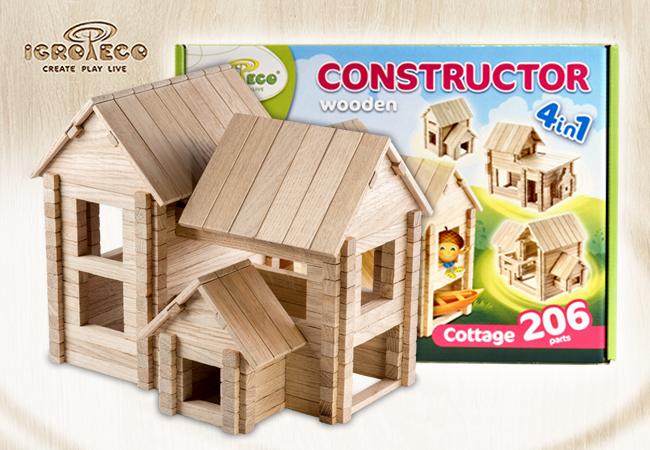 дерев'яний конструктор Ігротеко - коттедж
